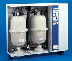 Bubble gas humidifier section. The vessel heater and the