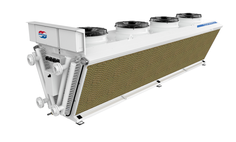 Adiabatic Fluid Cooler : Güntner v shape compact powerful and smart