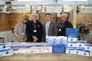 Eastleigh College has welcomed the donation of equipment from Blue Diamond Pumps.