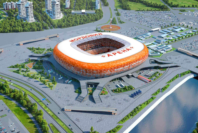 The Mordovia Arena in Saransk, Russia.