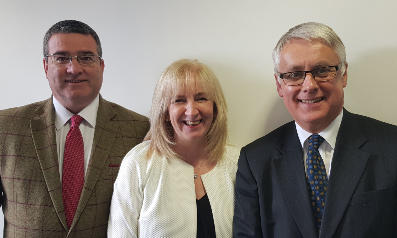 Left to right: Head of BESA Scotland and Northern Ireland, Iain McCaskey, with Fiona Harper, head of employment affairs at SELECT, and Duncan Wilson, deputy chief executive of SNIPEF.