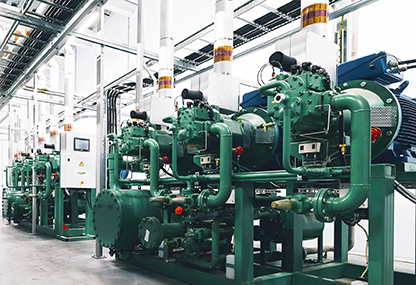 The Ammonia Compressor Packs side by side.