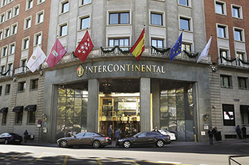 The InterContinental Madrid hotel has cut its energy use by 40 percent using ABB VSDs and high efficiency motors.
