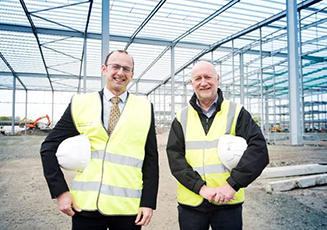 Willie Scanlon of Farmfoods (left) with Richard Bowden of ISD Solutions.