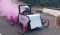 Sam Pearce shows his driving skills in the Portishead Soapbox Derby.
