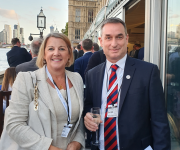 John Barker and Alice Barker at a reception at the Houses of Parliament to launch this year's Parliamentary Review.