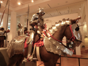 A suit of armour at The Royal Armouries in Leeds.