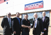 Jeff Yarborough (Coolink Technical Training Services), Phillip Prior, (managing director), Philip Burgess (student), Henry Bellingham MP, Paul Parfitt (branch manager)