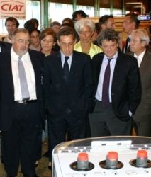 Sarkozy visits CIAT's heat pump factory