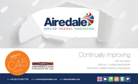 Airedale International Air Conditioning unveils brand refresh � To be launched at Data Centre World, ExCel London, 27 - 28th February 2013 on Stand C45
