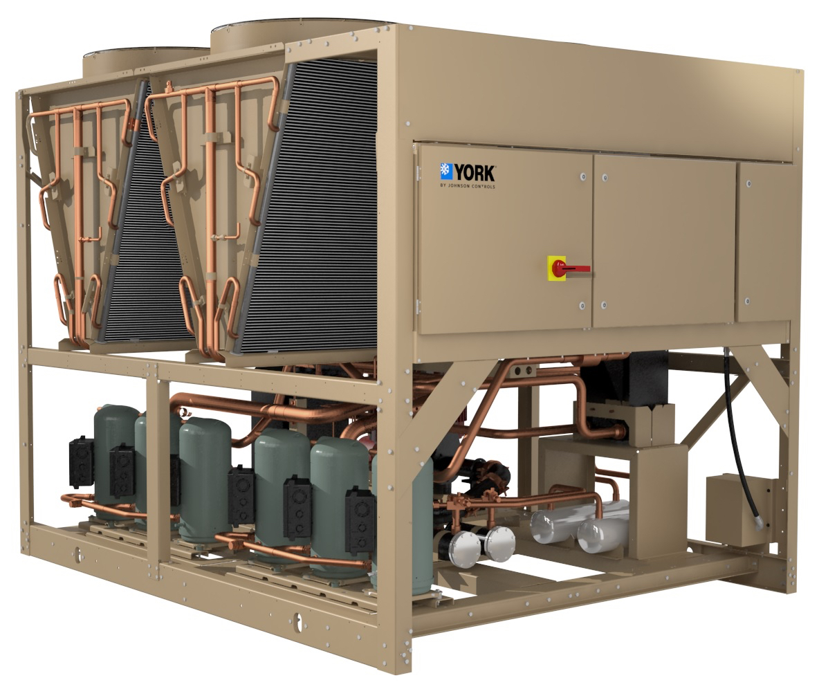 YORK YLAA scroll chiller with low-GWP R-454B refrigerant